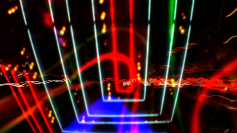 HD Neon Light Streaks Vegas PJPEG Stock Video Footage