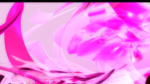 HD Pink Organic 3D PJPEG Stock Video Footage