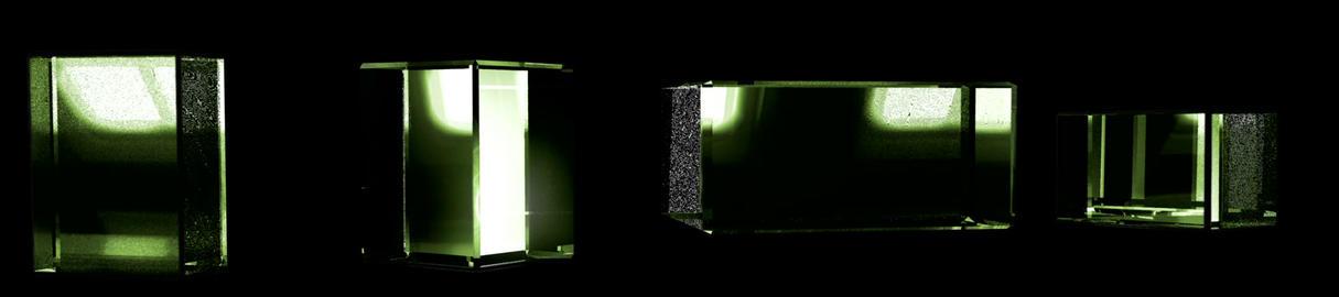 Green Cubic Kryptonite1 Stock Video Footage