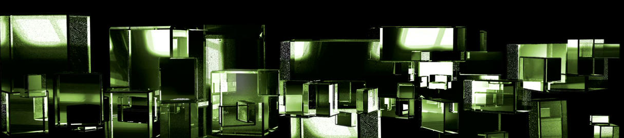 Green Cubic Kryptonite3 Stock Video Footage