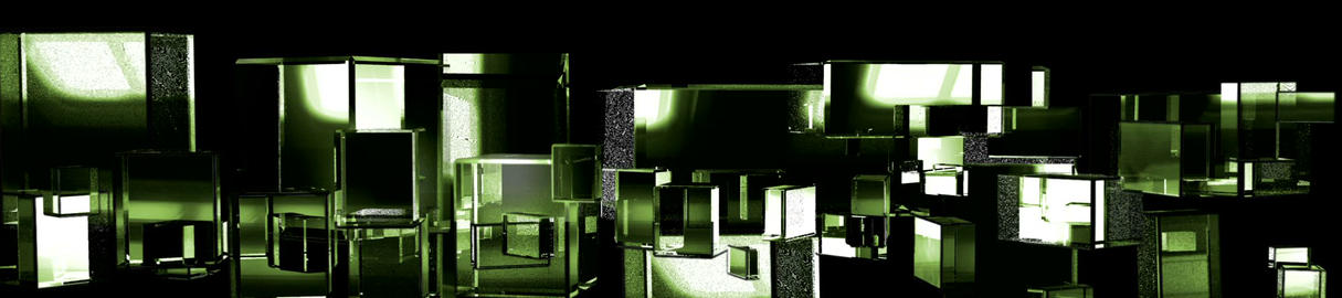 Green Cubic Kryptonite3 Stock Video Footage