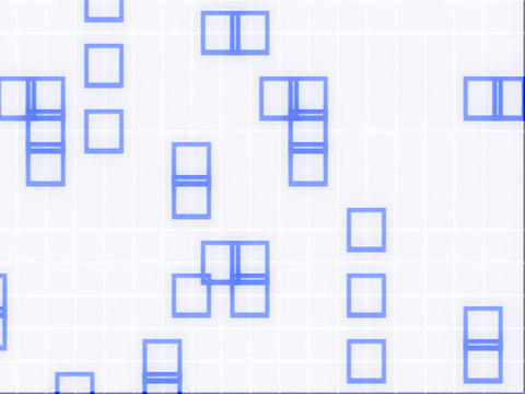 Random BLue White GRID Animation
