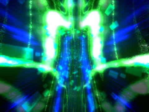 Blue Laser Tunn vortex Stock Video Footage