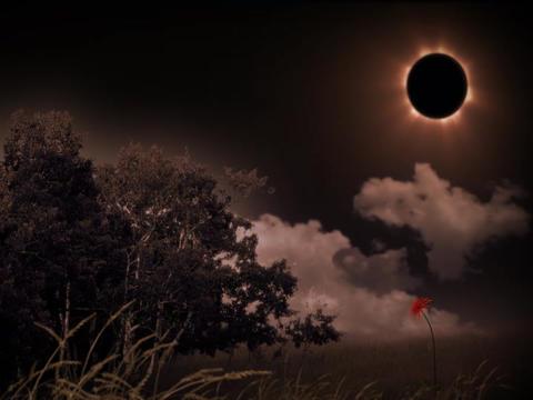 solarEclipseScape(L) Stock Video Footage