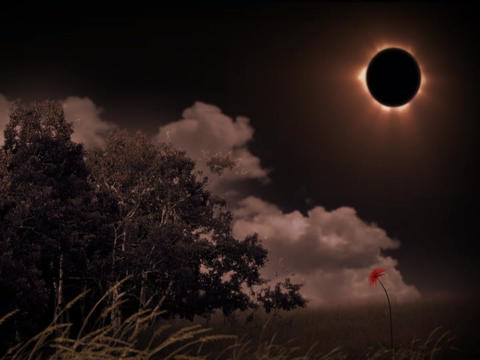 solarEclipseScape(L) Stock Video Footage
