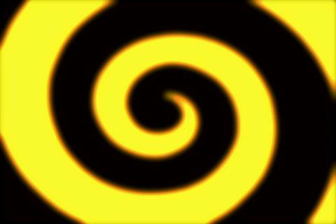 Rings Spiral Golden 2 Animation