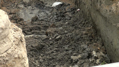 Bucket excavator Stock Video Footage