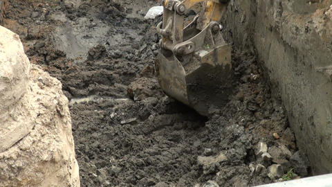 Bucket excavator Stock Video Footage