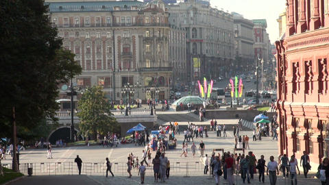 People in the city. Moscow Stock Video Footage
