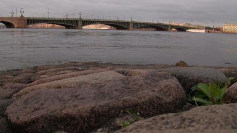 The bridge across the river Stock Video Footage