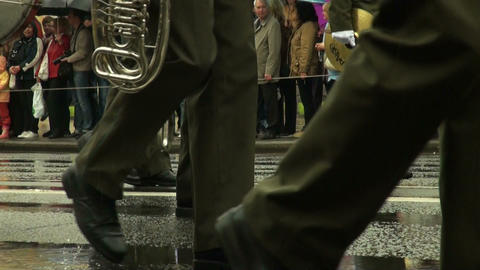 Feet military order Stock Video Footage