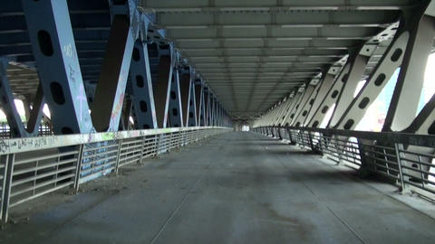 The reinforced concrete bridge Stock Video Footage