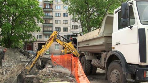 Bucket excavator Footage