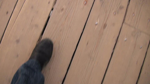 Steps on the road Stock Video Footage