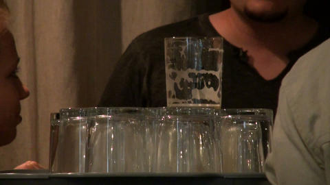 Empty glasses Stock Video Footage