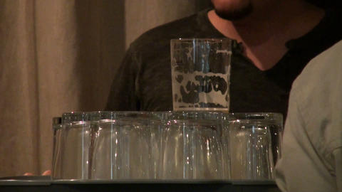 Empty Glasses stock footage