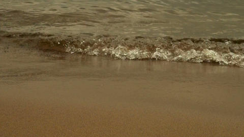 Red granite under water Stock Video Footage