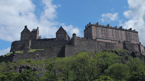 Side view of the Castle of Edinburgh Footage
