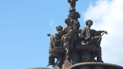 The Ross Fountain in Princes Street Gardens Footage