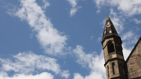 The Castle of Edinburgh Stock Video Footage