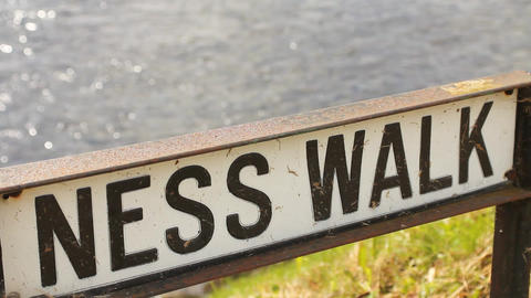 Ness walk, in Inverness Stock Video Footage