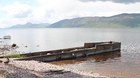 Panoramic of Loch Ness Stock Video Footage