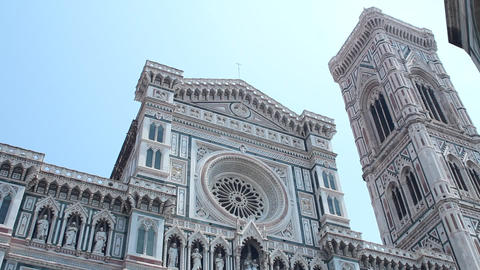 "Front side of the ""duomo"" in Florence Stock Video Footage"