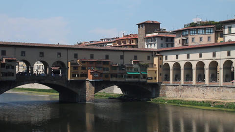 Ponte Vecchio, in Florence Stock Video Footage