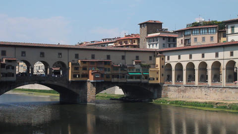 Ponte Vecchio, in Florence Footage
