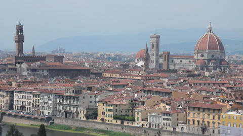 "Static shot of Florence, the ""duomo"" and the t Footage"