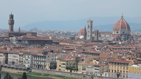 "Static shot of Florence, the ""duomo"" and the t Stock Video Footage"