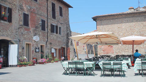 Little town in Tuscany Stock Video Footage