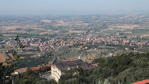 View of the Italian countryside Footage