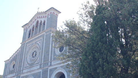 Saint Margaret's Church in Cortona, Italy Footage