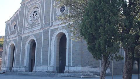 Saint Margaret's Church in Cortona, Italy Stock Video Footage
