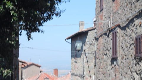 Little Italian street in Cortona Stock Video Footage