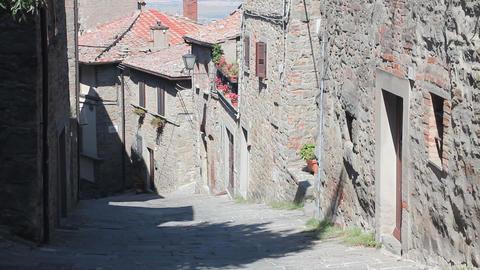 Little Italian street in Cortona Footage