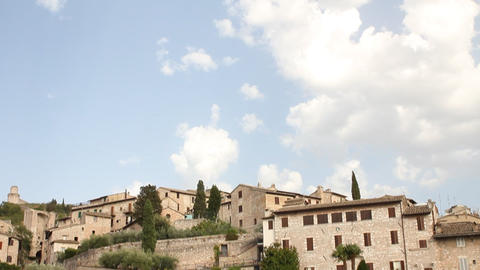 "Assisi and a field with the word ""peace"" in la Stock Video Footage"
