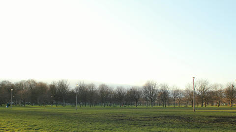 Time lapse of the Meadows park in Edinburgh Stock Video Footage