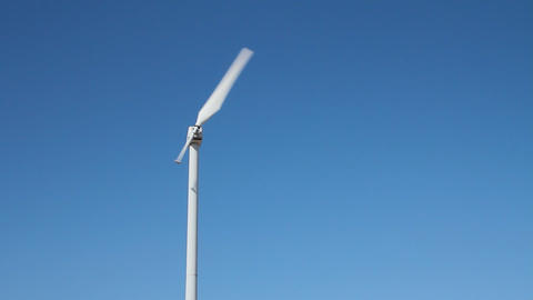 Static Shot Of A Single Blade Wind Turbine stock footage