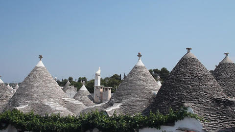 View of Alberobello and the trulli, a traditional Stock Video Footage