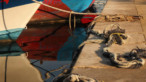 Docked boats Stock Video Footage