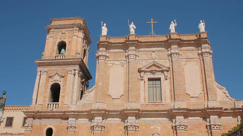 Cathedral of Brindisi Stock Video Footage