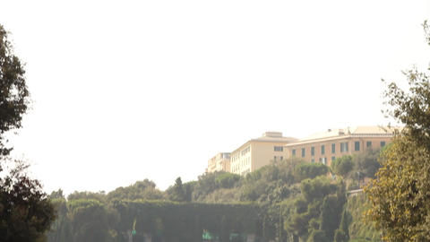 Flower garden of Three Caravels in Genoa Stock Video Footage