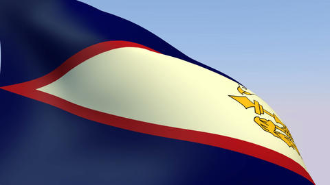 Flag of American Samoa Stock Video Footage