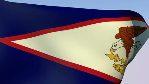 Flag of American Samoa Stock Video Footage