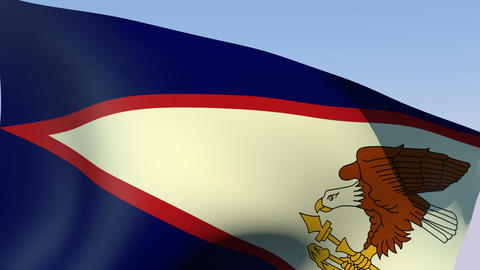 Flag of American Samoa Animation