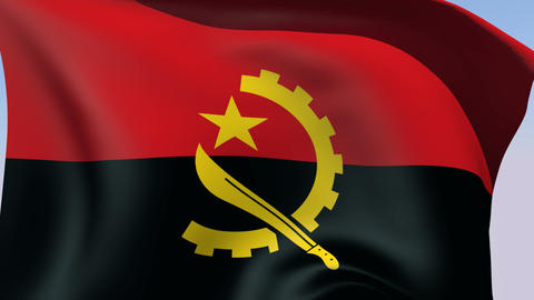 Flag of Angola Animation