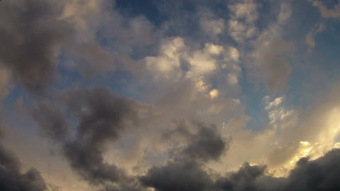 Dynamic clouds moving towards camera Footage