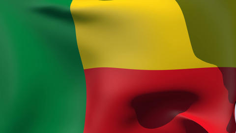 Flag of Benin Stock Video Footage